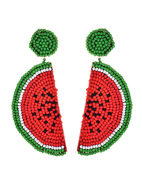 Watermelon Seed Bead Drop Earrings - Liz & Addie