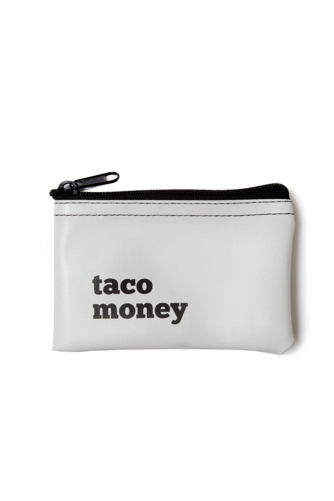 Taco Money Vinyl Zip Pouch
