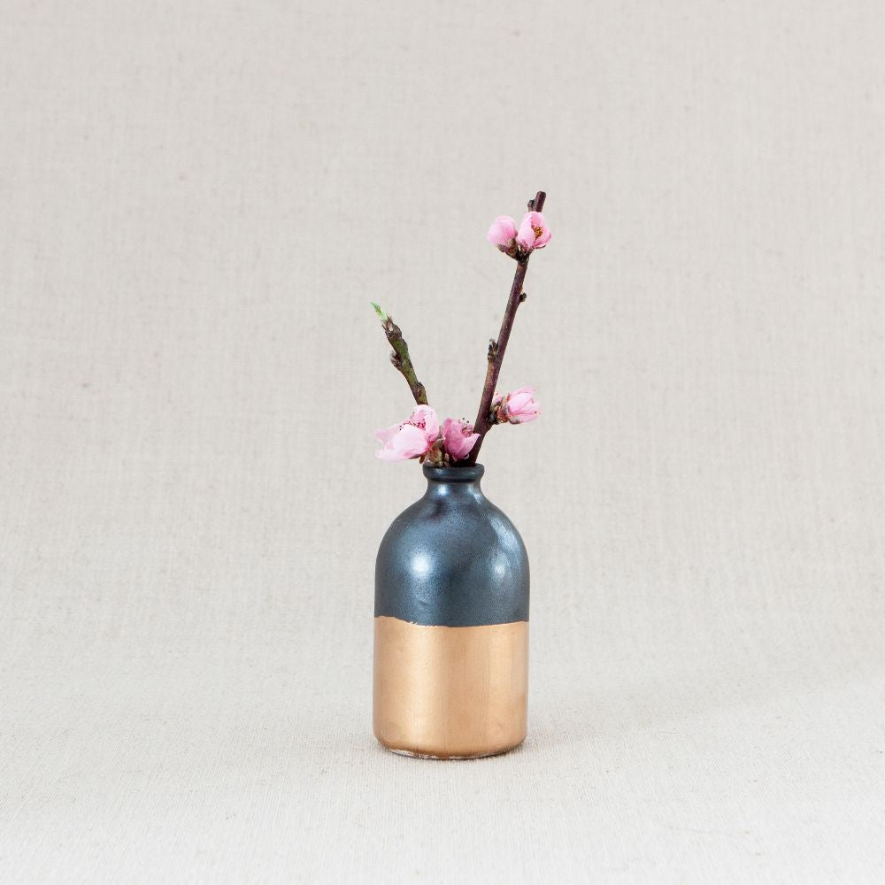 Minimalist Bud Vase - Black and Gold