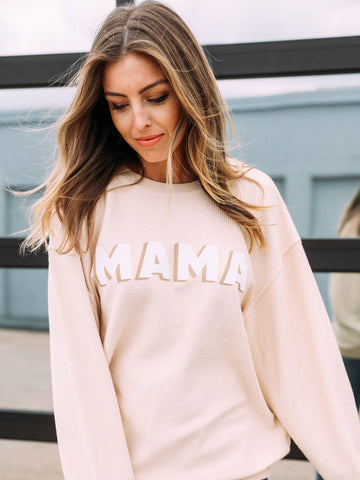 Mama corded sweatshirt - Liz & Addie
