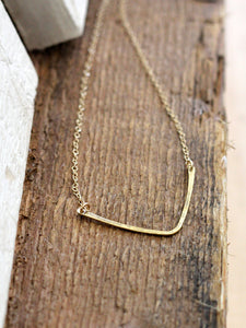 Hammered Chevron Necklace