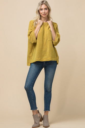 Gold Heathered Top