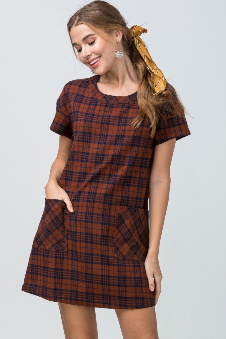 Plaid Dress - Liz & Addie