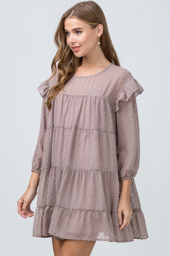 Babydoll Dress - Latte