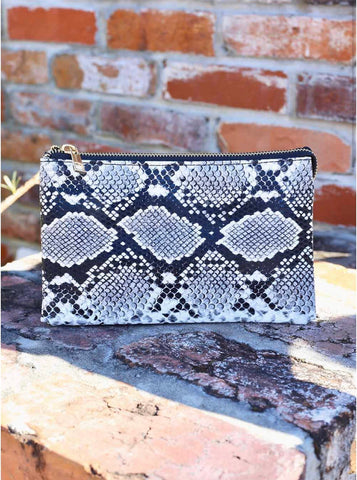 Liz Crossbody Bag - Snake Gray - Liz & addie