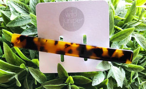 Wild Juniper - Long Tortoise Shell Hair Barrette