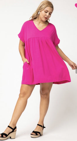 Keeping it Casual Babydoll Dress - Plus - Liz & Addie
