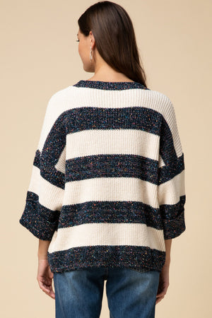 Speckled Chenille Sweater - Teal