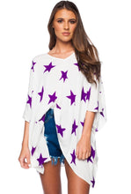 Load image into Gallery viewer, North Tunic - Purple Stars