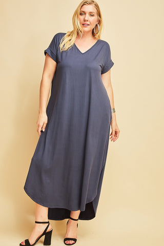 Navy Maxi Dress - Liz & Addie