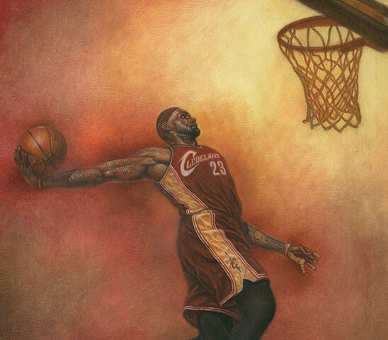 LeBron James - Oil on Canvas 16x20