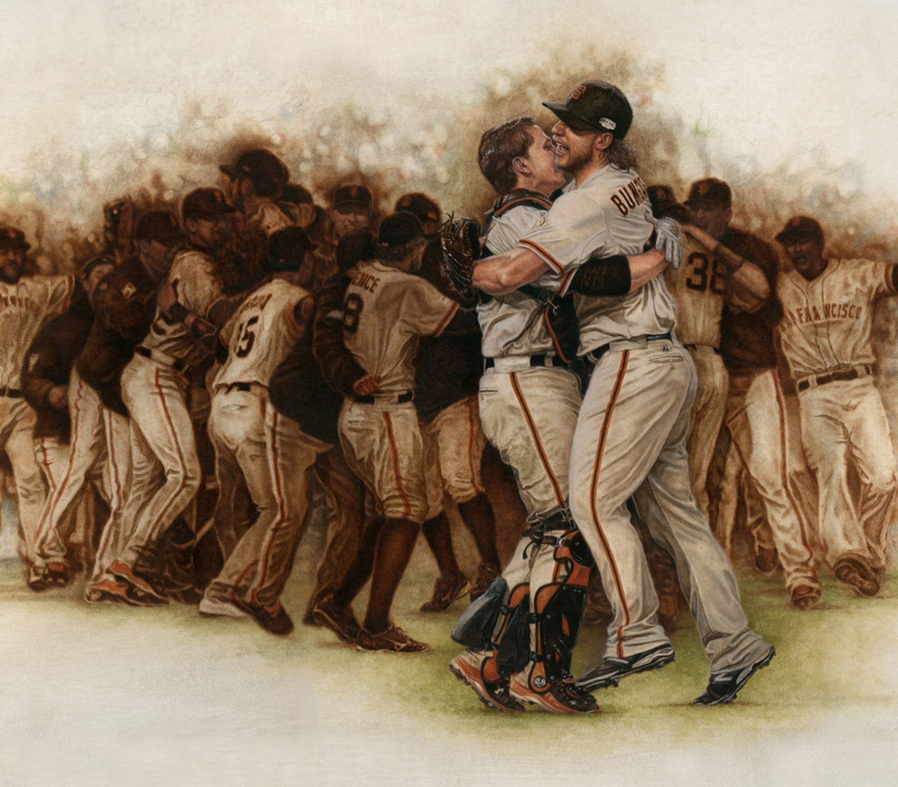 SF Giants World Champions Celebration - Oil on Canvas 32x44