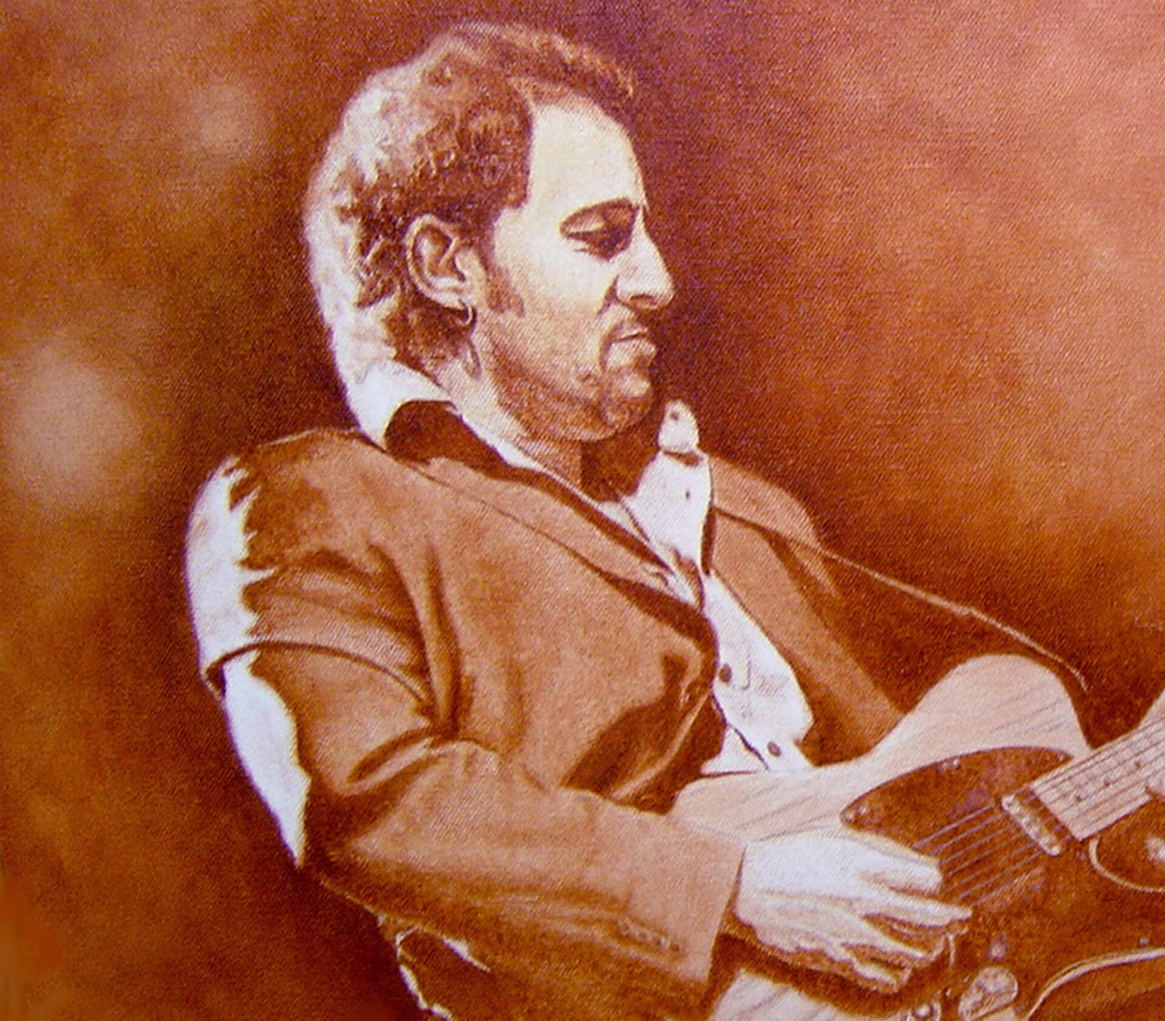 Bruce Springsteen - Oil on Canvas 12x24