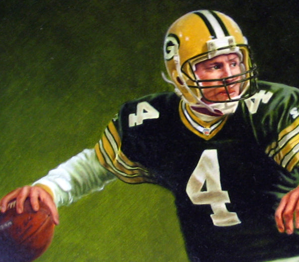 Brett Favre - Oil on Illustration Board 14x21
