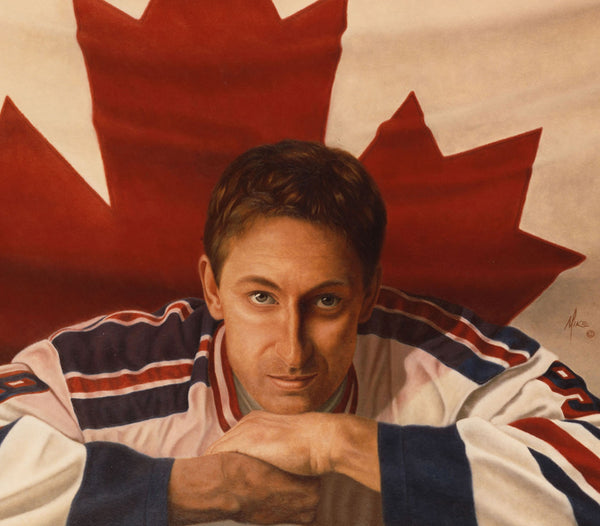 Wayne Gretzky - Oil on Illustration 40x50