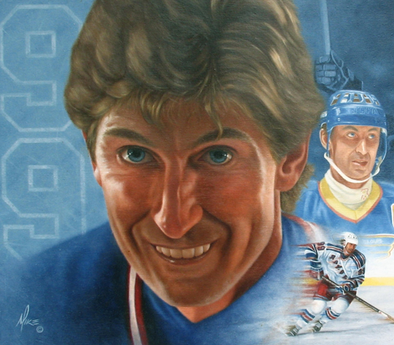 Wayne Gretzky Montage - Oil on Canvas 29x39