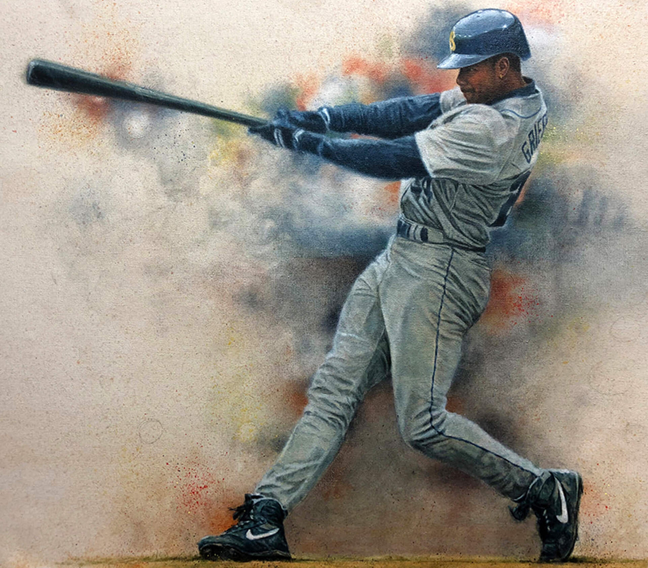 Ken Griffey Jr. - Oil on Canvas 16x20