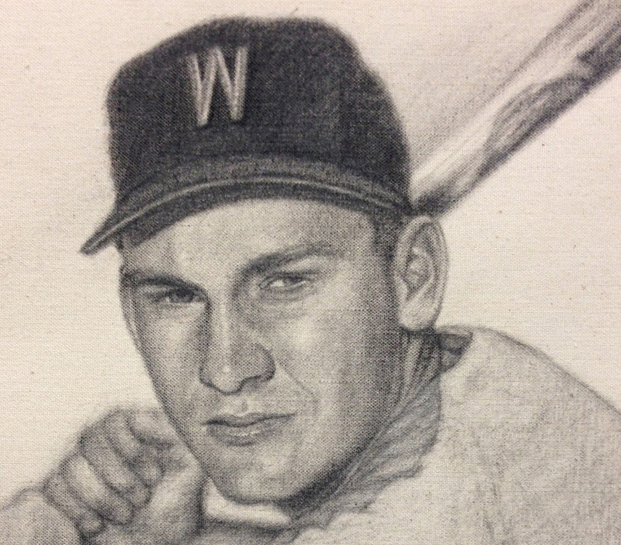 Harmon Killebrew - Graphite on Raw Canvas 11x14