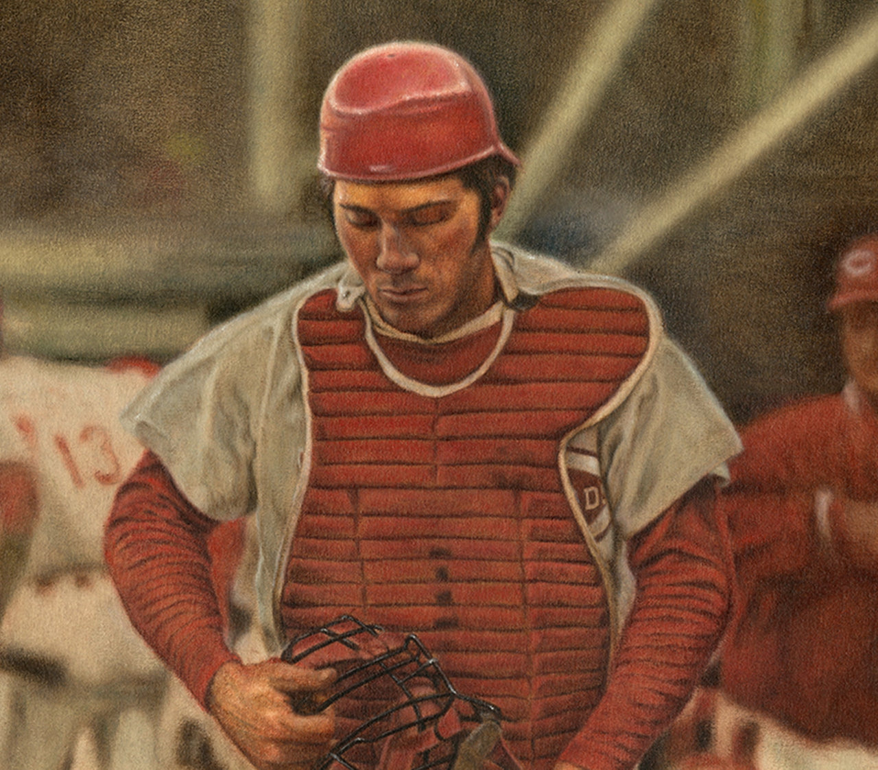 Johnny Bench - Oil on Canvas 15x30