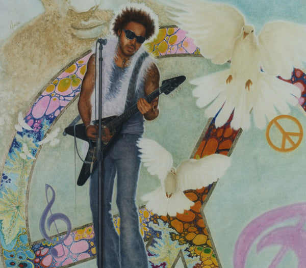 Lenny Kravitz - Oil on Illustration Board 30x40
