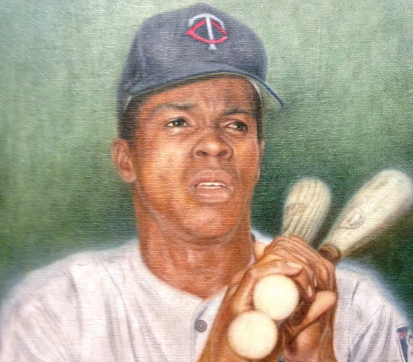 Rod Carew - Oil on Canvas 11x14 - Signed by Carew