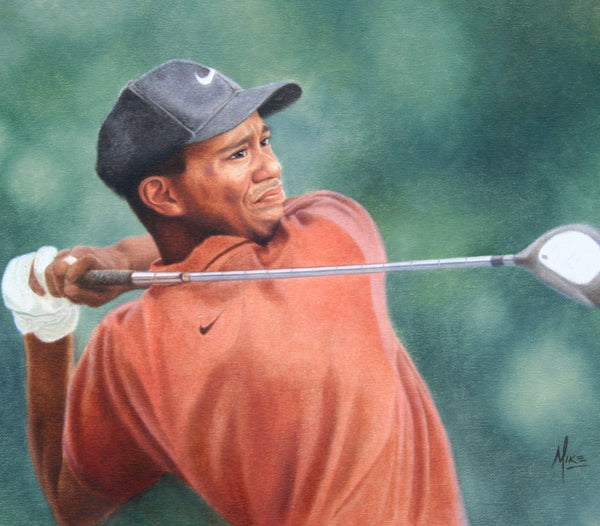 Tiger Woods - Oil on Canvas 16x20