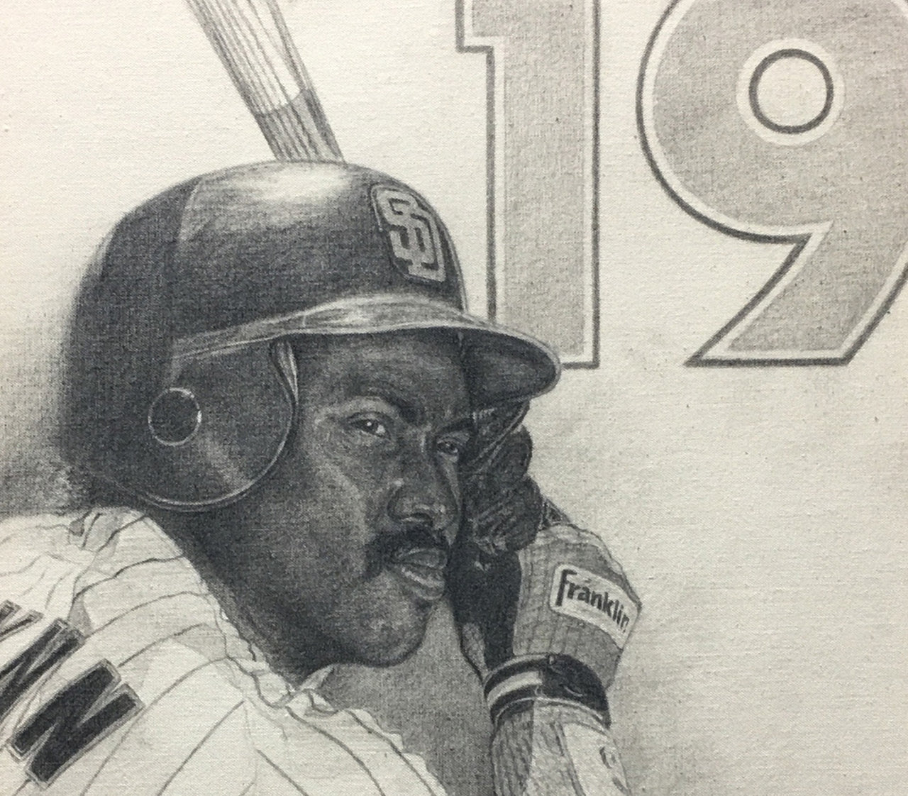 Tony Gwynn - Graphite on Canvas 16x20