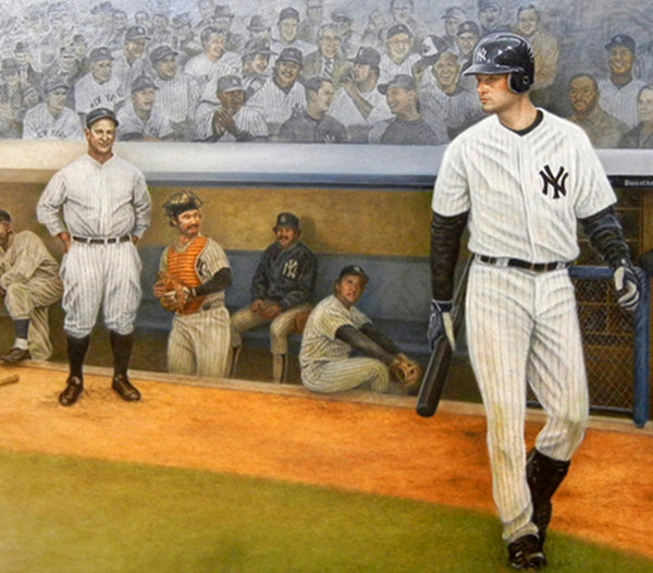 Yankee Proud - Captains Piece - Oil on Canvas 24x48 - Signed by Jeter
