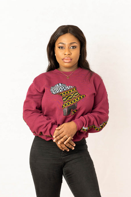 Africanmap Sweatshirt freeshipping - ENA
