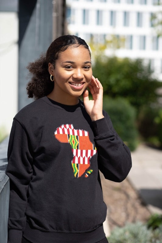 African Map Sweatshirt freeshipping - ENA
