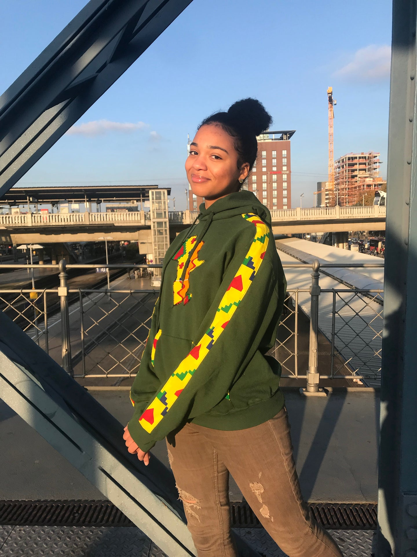 GREEN AFRICAN MAP HOODIE freeshipping - ENA