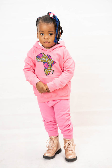 Satin Lined Africanmap Hoodie Children freeshipping - ENA