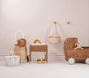 Olli & Ella, poppenwagen Strolley - natural