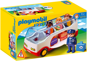 Playmobil 1.2.3, airport shuttle bus