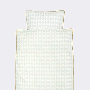 Ferm Living, donsovertrek - harlequin mint