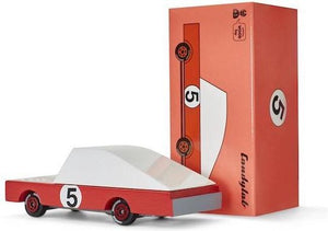 Candylab, houten auto -  red Racer #5