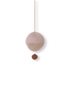 Ferm Living, muziekje - knitted ball pink/gold