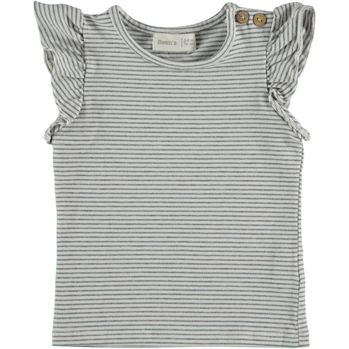 Beans Barcelona, striped t-shirt Creeper white