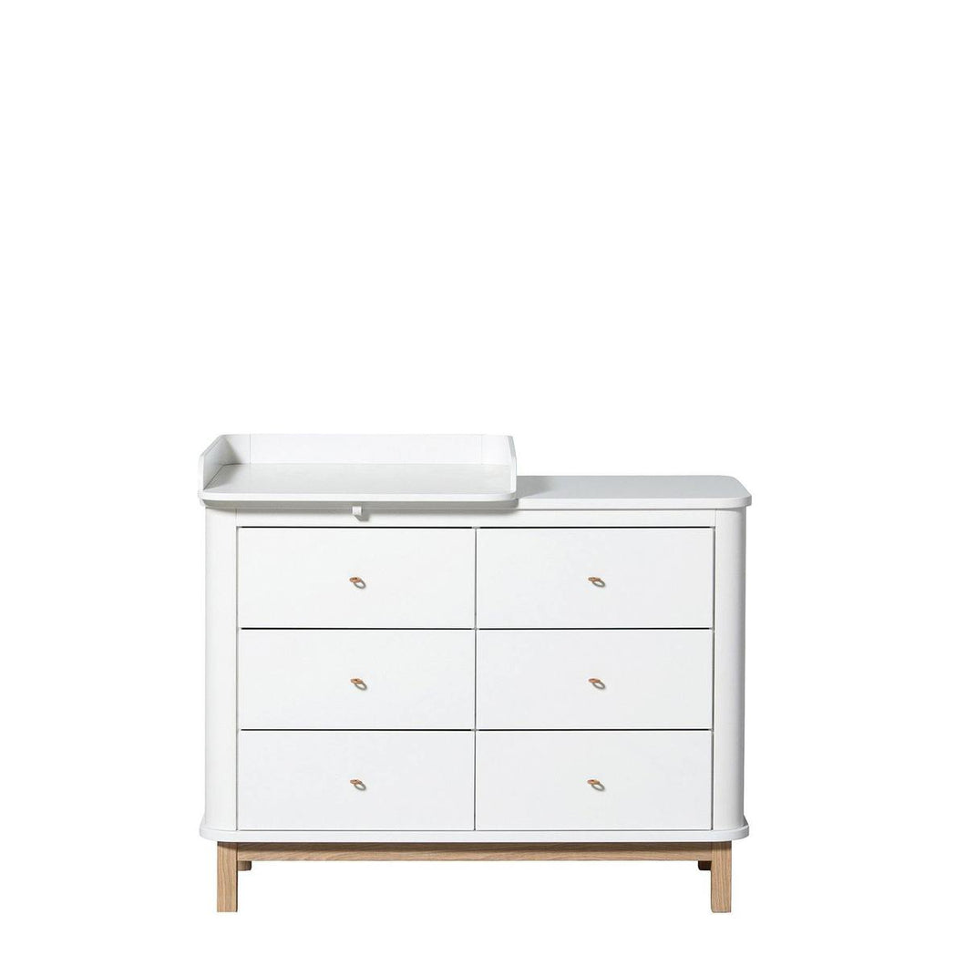 Oliver Furniture - commode met 6 lades Wood oak + small changing unit