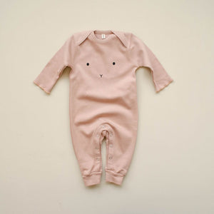 Organic Zoo, playsuit - bunny clay