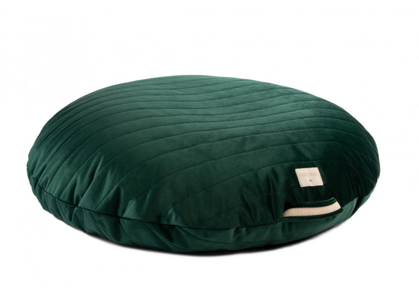 Nobodinoz, velvet poef Sahara - jungle green