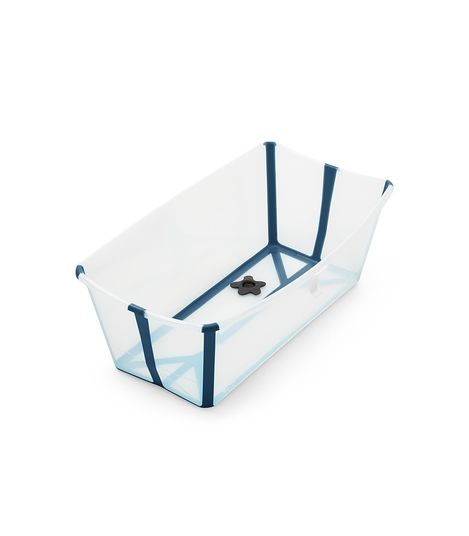 Stokke, flexibath - transparent blue