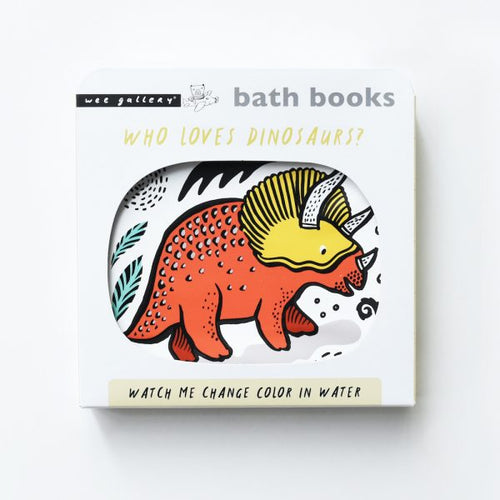 Wee Gallery, badboek - color me dinosaurs