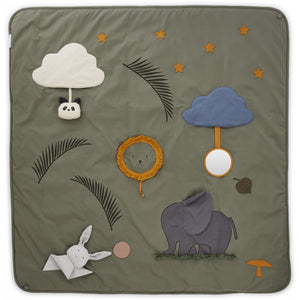 Liewood, activity blanket - faune green