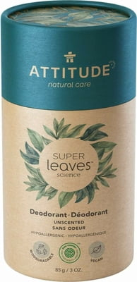 Attitude, super leaves deodorant - fragrance free