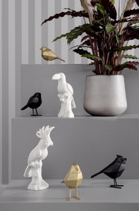 PT,  the black bird statue - small