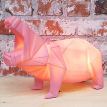 Afbeelding in Gallery-weergave laden, Disaster Designs, origami lamp - Hippo pink
