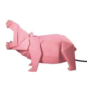 Disaster Designs, origami lamp - Hippo pink