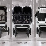 Mountain Buggy, carrycot+  Duet - zwart