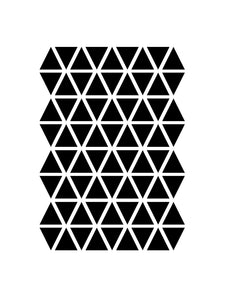 Ferm Living, muurstickers - mini triangles black